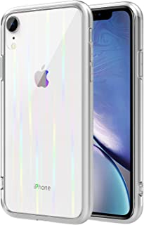 MoKo Compatible with iPhone XR Case, 9H Tempered Glass Back Crystal Clear TPU Bumper Shockproof Anti-scratch Protective Tr...