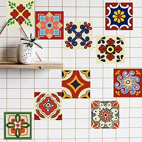 vinilos pared,Pegatinas de azulejos extraíbles de bricolaje de estilo europeo, azulejos de imitación de azulejos de imitación de dormitorio de sala de estar a prueba de agua de pared de piso 20 piezas