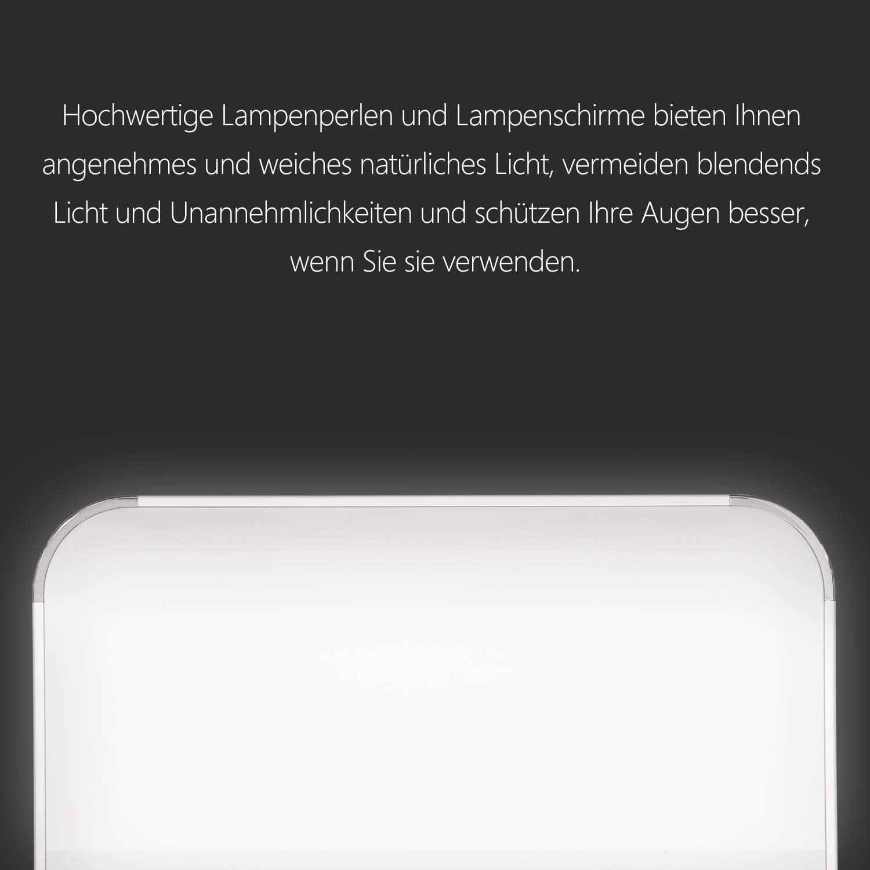 Hengda LED Deckenleuchte Dimmbar, 2160LM Flurlampe Wohnzimmerlampe, Ersatz 150W Glühlampe, 6500K Badezimmerlampe Bürodeckenleuchte 24W, Schutzart IP44 24w Dimmbar