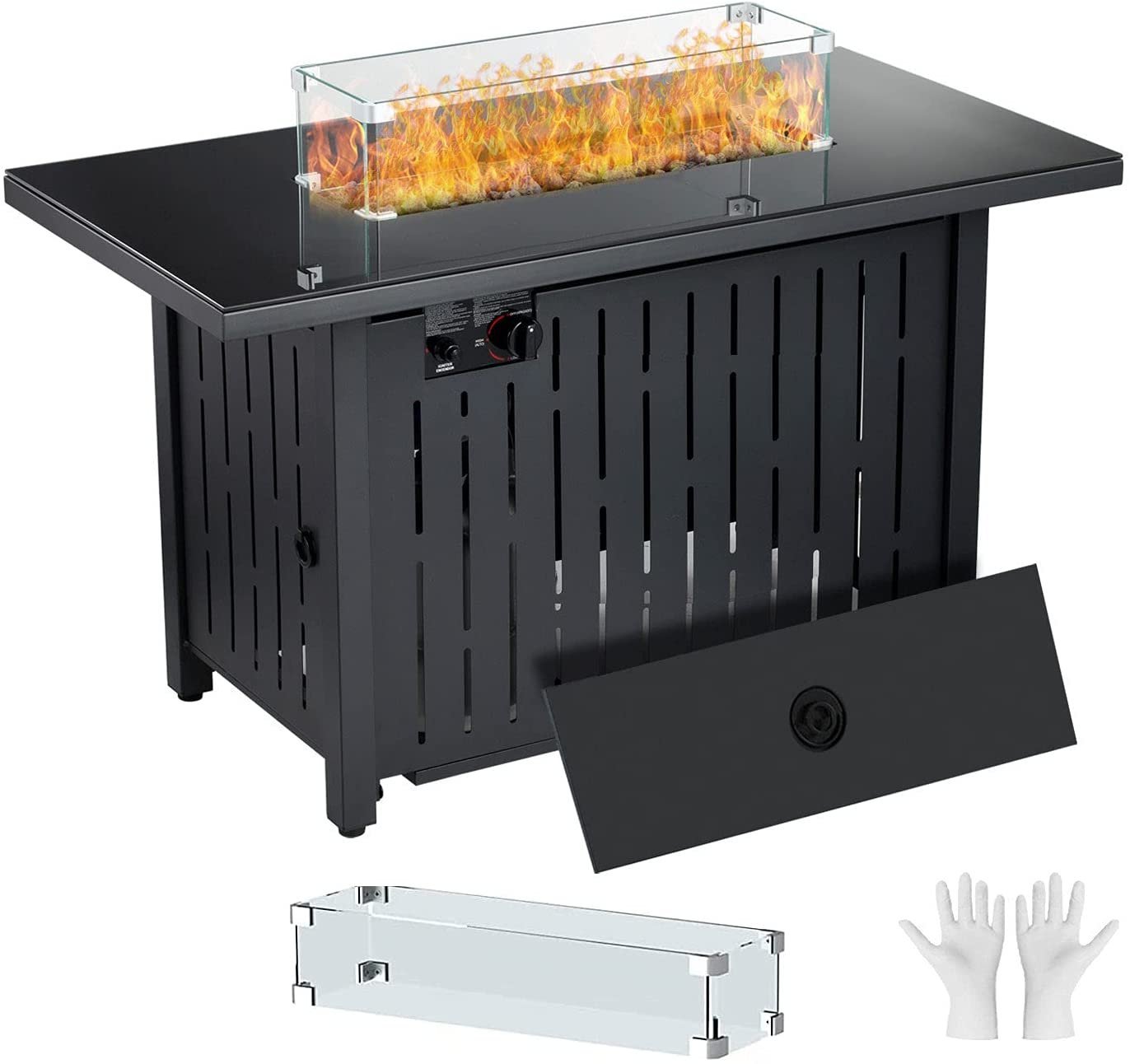 2021 model Quality inspection Propane Fire Pit Table 44 Inch Auto-Ignition Fir 60 Gas 000 BTU