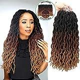 Eliza Wavy Gypsy Locs Ombre Crochet Hair 18' 8Packs/Lot...