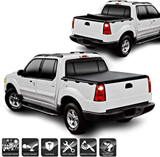 Xtune Tonneau Cover for Ford Explorer Sport Trac 2001-2005 49 inch Roll Up Style