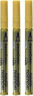 UCHIDA DecoColor Premium Fine Tip Paint Marker, Gold (Thrее Рack)