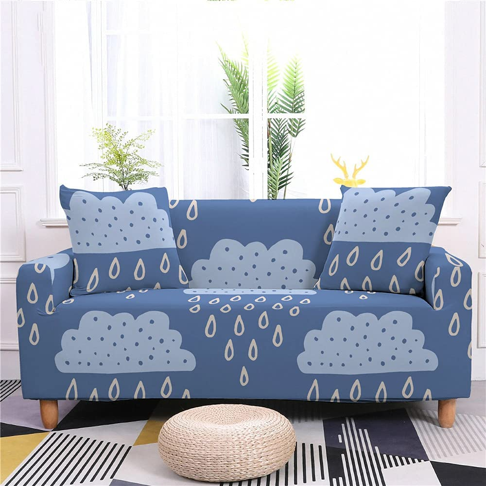 AMZAO High Stretch Manufacturer direct delivery Sofa Covers 1 2 4 Ranking TOP17 3 Cartoon Leave Fish Seater