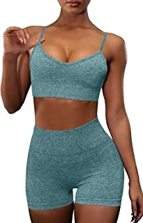 OQQ Yoga Outfit for Women Seamless 2 Piece Workout Gym...