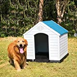 Plastic Dog House Medium and Small Size Dog Pet Kennel