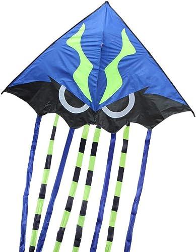 Breeze Einfach zu fliegen Kite, Erwachsenen Park Beach Long Tail Kite Kind tragbare Tier Drachen, 165  410CM (Farbe   Blau)
