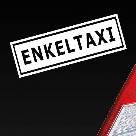 Enkeltaxi Aufkleber Opa Oma Sticker Sprüche Autoaufkleber Schwarz Auto
