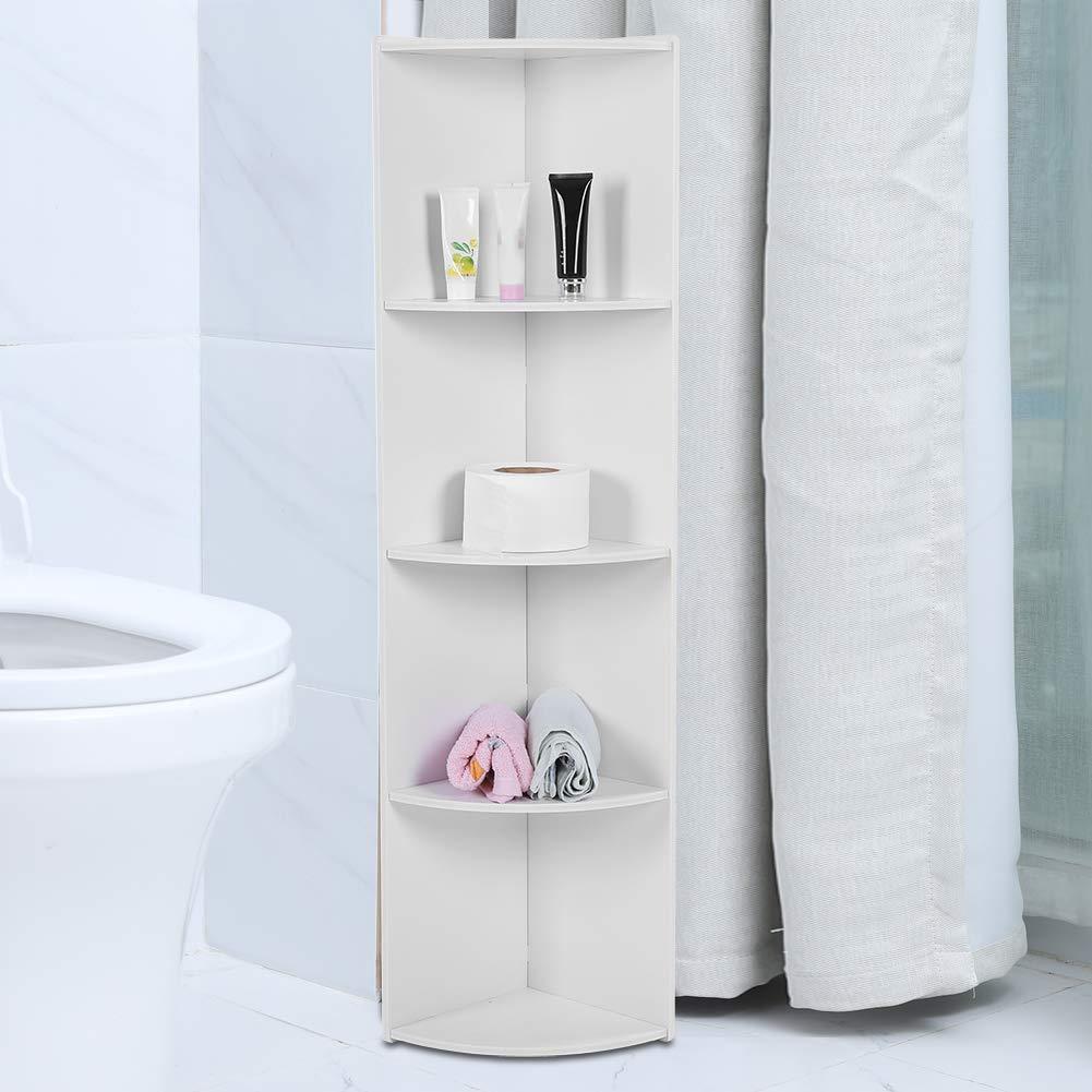 Corner Shelf Unit Narrow Bathroom Storage 4 Tier Wooden Standing Corner Cabinet Tall Cupboard Bathroom Bedroom Tallboy Buy Online In Antigua And Barbuda At Antigua Desertcart Com Productid 150475318