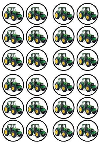Traktor Farmer essbarem Premium Stärke Süße Vanille, Wafer Reispapier Cupcake Topper/Dekoration