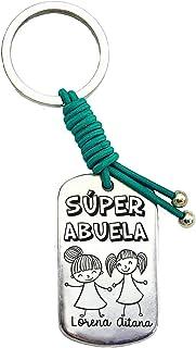 Llavero Súper Abuela Personalizado Regalo Día de La Madre