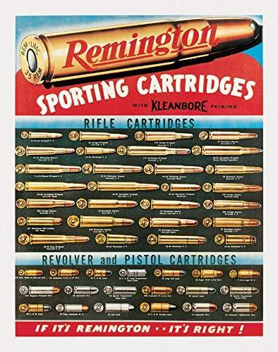 Remington Cartridges Vintage Metal Tin Sign Wall Decor Garage Man Cave Shop USA