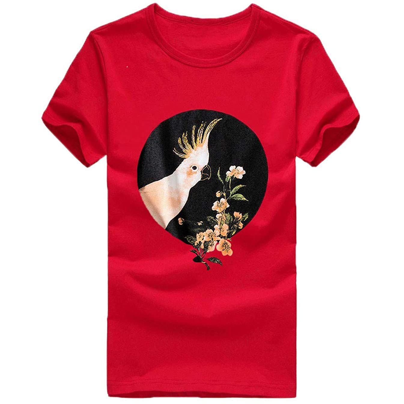 Sumen Women T Shirt Funny Print Short Sleeve Tops Teen Girls Summer Baggy Tees