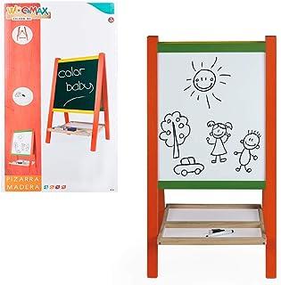 comprar comparacion WOOMAX- Pizarra caballete de madera con accesorios (Colorbaby 43692)