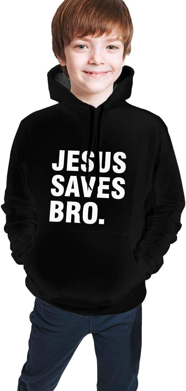 Jesus Saves Bro Christian Girls Boy Teen Hoodies Cute Sweater Pu