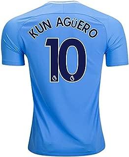 NIKE Men's 2017/18 KUN Aguero #10 Manchester City Soccer Vapor Match Jersey