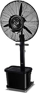 Ventiladores industriales de pie, ventilador de pedestal, alta velocidad, metal resistente para uso industrial, comercial, residencial, de invernadero, negro
