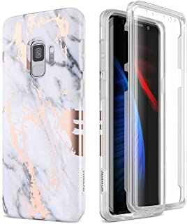 SURITCH Case for Galaxy S9, [Built-in Screen Protector] Full-Body Protection Shockproof Rugged Bumper Protective Cover for...