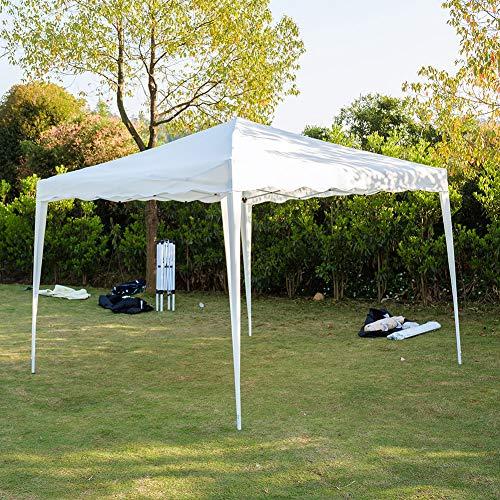 Cikonielf - Cenador plegable impermeable, 3 x 3 m, para exteriores, patio, pabellón y refugio, altura máxima de 2,6 m