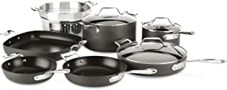 All-Clad H911SA64 Essentials Nonstick Cookware set, 10 Piece, Grey