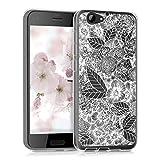 kwmobile Hülle kompatibel mit HTC One A9s - Handyhülle - Handy Hülle Blumenmeer Weiß Transparent
