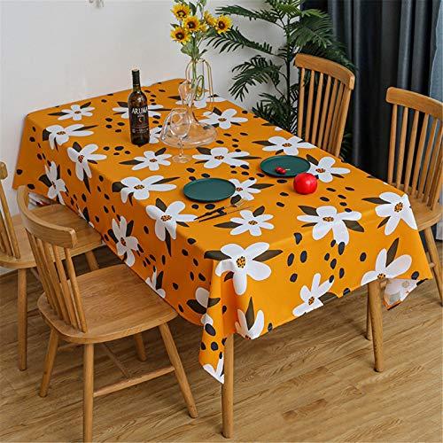Mantel Impreso Mantel para Sala De Estar Mantel Impermeable para El Hogar Mantel Cuadrado para Banquete, Mesa De Café, Mueble De TV 140x220cm