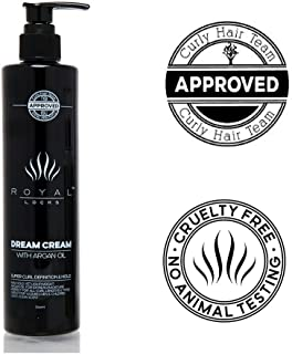 Curly Hair Products Ultra Curl Defining Dream Cream by Royal Locks for Styling and Conditioning Frizz Free Curls Moroccan Argan Oil Supercream Curl Keeper for Wavy to Kinky Natural or Perm Hair