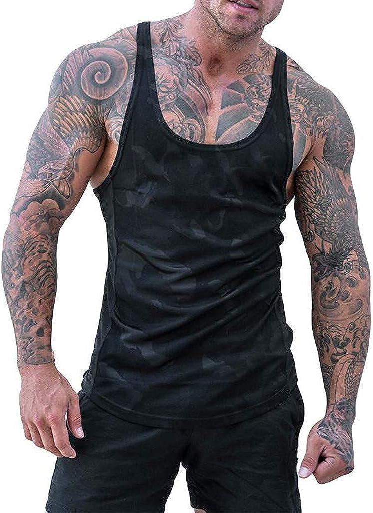 FORUU Fitness Tank Tops for Men Plus Size 2020 Sumemr Handsome Sleeveless Bodybuilding Tight-Drying Vest Tops