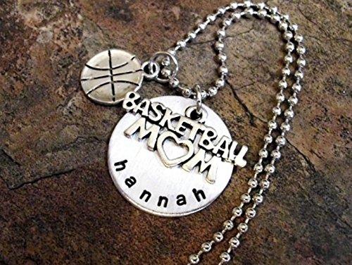 sports mom basketball team basketball mom gift Basketball necklace basketball fan gift basketball charm personalized basketball player