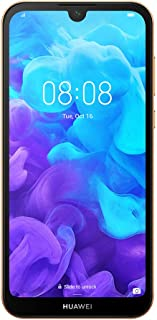 "HUAWEI Amman-L29B Y5 2019 Smartphone, Dual-SIM Android Mobile Phone with 5.71"" Dewdrop Display, 2 GB RAM+32 GB ROM, Amber Brown (Pack of1)"