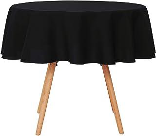 UMI by Amazon Mantel Mesa Comedor Manteles para Restaurantes Comedor Cocina 160 cm Negro