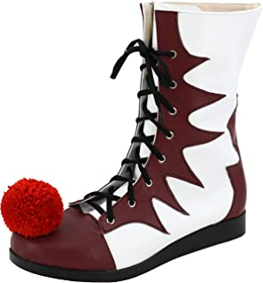 Halloween Cosplay Clown Booties Creepy Joker Boots Costume Shoes Men Women