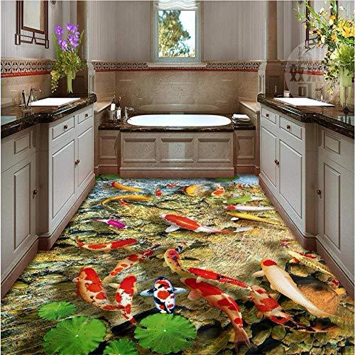Mural Fotomural Papel Pintado Papel Tapiz 3D Para Pisos Mundo Marino Tiburón Estéreo 3D Pintura Exterior Para Exteriores Suelo De Vinilo Papel Tapiz Autoadhesivo Impermeable, 105 * 150 Cm