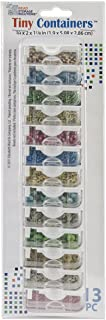 """Darice Elizabeth Ward Solutions Clear Plastic Storage Containers (13pc) – Tiny – Organize Beads, Jewelry Making and Craft Supplies, Earrings and More – Securely Snaps Shut, 3/4"""" x 2"""" x, 1 Pack,"""