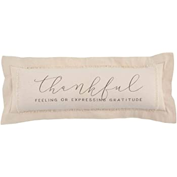 Mud Pie Thankful Definition Decorative Lumbar Pillow