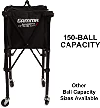 Gamma Sports EZ Travel Cart Pro, Portable & Compact Design, Sturdy & Lightweight Construction, 150 or 250 Capacity Available, Premium Carrying Case Included
