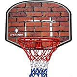 18'' Professional Wall Mounted Indoor Basketball Hoop Ring and Backboard including Net
