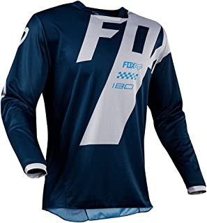 Men's Long Sleeve Cycling Jersey Cycle Riding Jerseys Biking Shirt with Quick Dry Breathable Fabric, Bike and Motocross Long-sleeved T-shirt Summer
