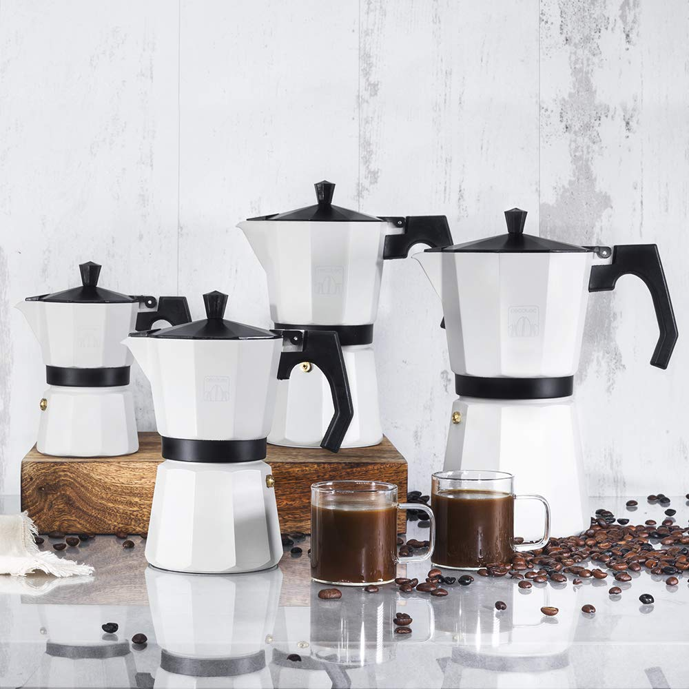 Cecotec Cafetera Italiana Cumbia Mimoka 1200 Beige. Fabricada en Aluminio Fundido, Apta para Todo Tipo de cocinas, para 12 Tazas de café: Amazon.es: Hogar