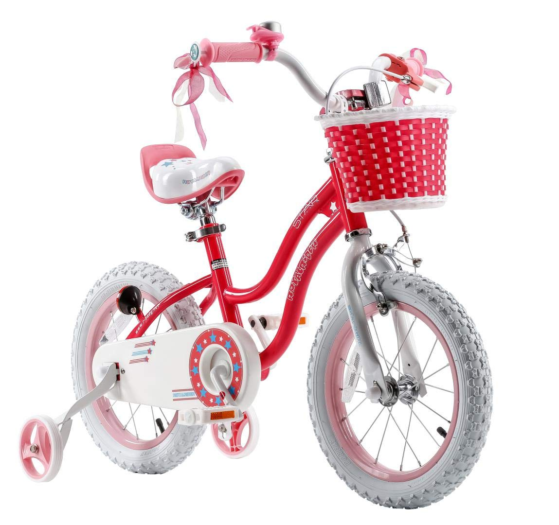 Kids Bicycle Accessories Kids Bicycle Basket with Flower DRBIKE Kids Bike Basket for 12 14 16 18 inch Girls Bike