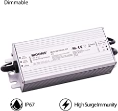 MOONS' IP67 75W LED Driver Dimmable Power Supply Outdoor 90~305VAC 30-75VDC 1000mA(Default) Output Constant Current 0-10v dimming,Not Suitable for Constant Voltage (12V, 24V, 48V) LED Strip