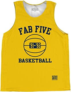 Michigan Fab Five Basketball Practice Singlet Jersey
