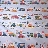 Stoff Meterware Baumwolle Kinderstoff Autos Feuerwehr