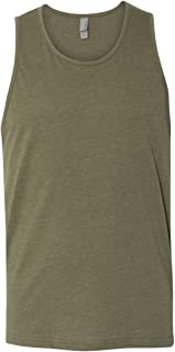Next Level Men's Rib-Knit Sublimated Muscle Tank Top, Large, Military Green
