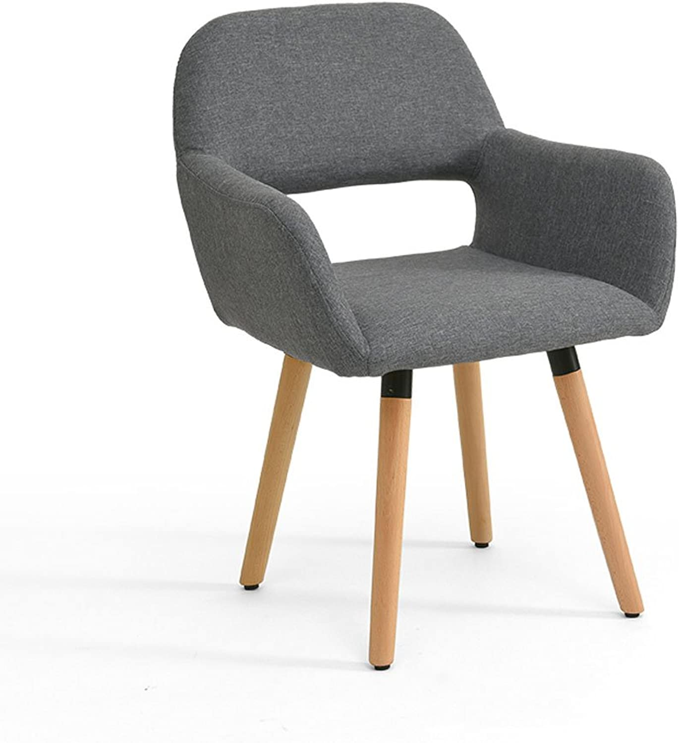 CQOZ Solid Wood Chair Simple and Modern Computer Chair Northern Europe Creative Backrest Desk and Chair Leisure Home Dining Chair 40 × 42 × 75cm Sofa Stool (color    4)
