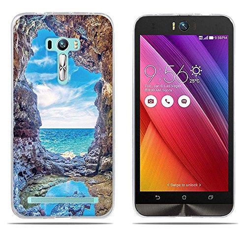 DIKAS für Asus ZenFone Selfie ZD551KL Hülle, Transparent Ultra Slim Tasche Etui Weich Flexibel Crystal Clear Premium TPU Silikon Bumper Schutzhülle für Asus ZenFone Selfie ZD551KL- Pic: 08