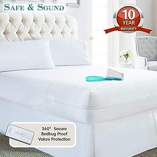 Safe and Sound Waterproof Zippered Mattress Encasement, Premium Breathable Mattress Cover, Vinyl Free Mattress Protector California King Size