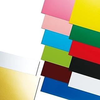カラー工作用紙 A3判 450x320mm 裏面方眼付 厚さ0.5mm №607 青