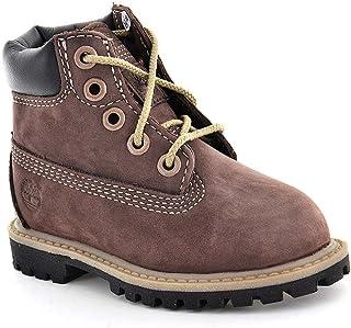 Timberland Baby Boots 98873 6In Prem Red Brown Nubuck Waterproof