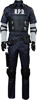Leon Kennedy Claire Redfield Halloween Jacket Cosplay Costume Full Set Outfits